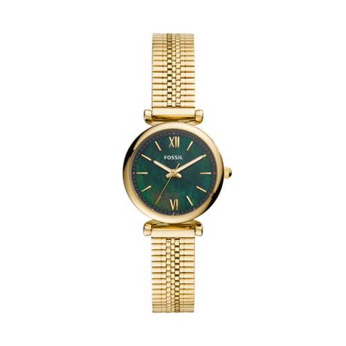 Carlie Mini Three-Hand Gold-Tone Stainless Steel Watch ES4645