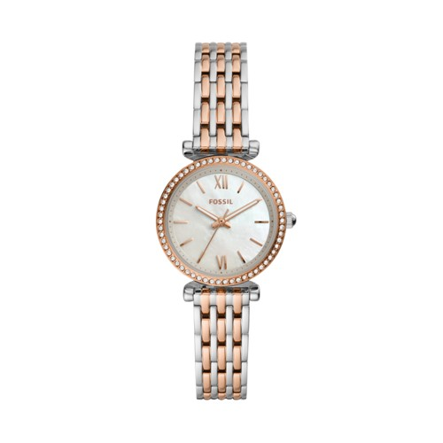 Carlie Mini Three-Hand Two-Tone Stainless Steel Watch ES4649