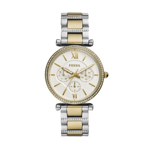 Carlie Multifunction Two-Tone Stainless Steel Watch ES4661