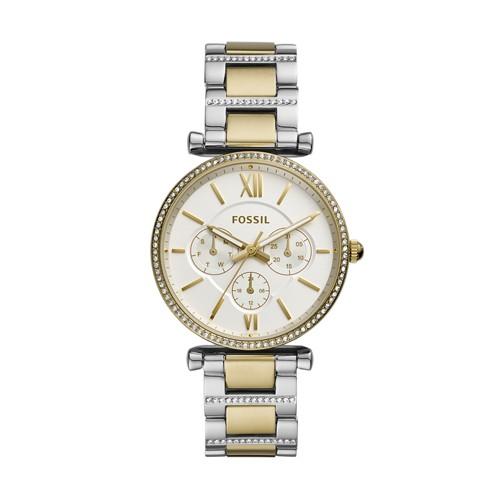 Carlie Multifunction Two-Tone Stainless Steel Watch ES4661