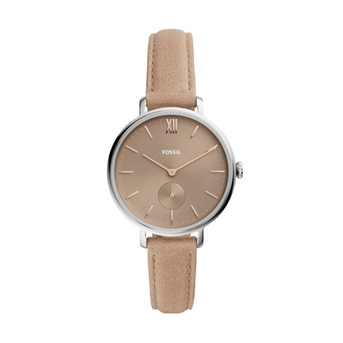 Fossil Kalya Three-Hand Blush Leather Watch  jewelry