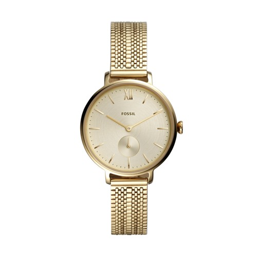 fossil Kalya Three-Hand Gold-Tone Stainless Steel Watch ES4667