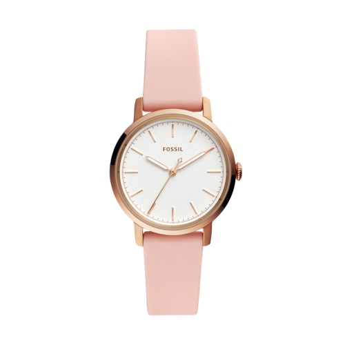 Neely Three-Hand Blush Silicone Watch ES4669