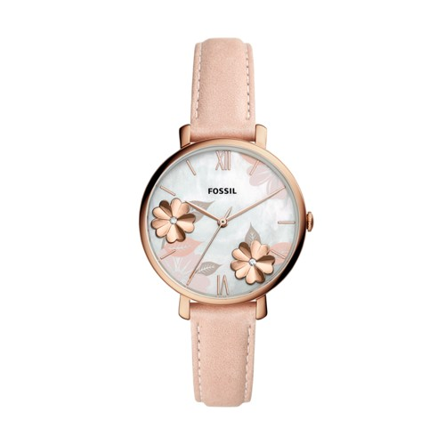Fossil Jacqueline Three-Hand Blush Leather Watch  jewelry