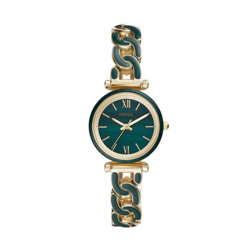 Carlie Mini Three-Hand Two-Tone Acetate and Stainless Steel Watch ES4674