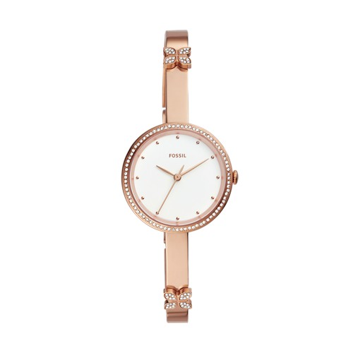 Maxine Three-Hand Rose Gold-Tone Stainless Steel Watch ES4678