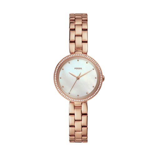 fossil Maxine Three-Hand Rose Gold-Tone Stainless Steel Watch ES4680