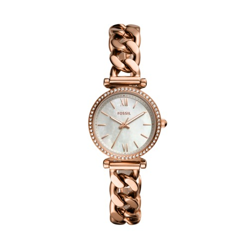 Carlie Mini Three-Hand Rose Gold-Tone Stainless Steel Watch ES4688