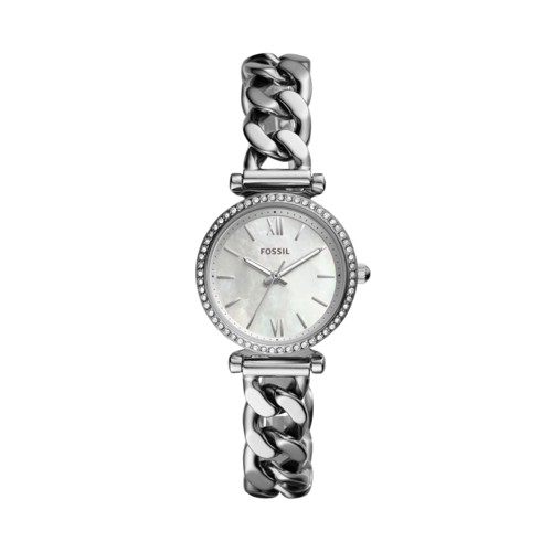 Fossil Carlie Mini Three-Hand Stainless Steel Watch  jewelry