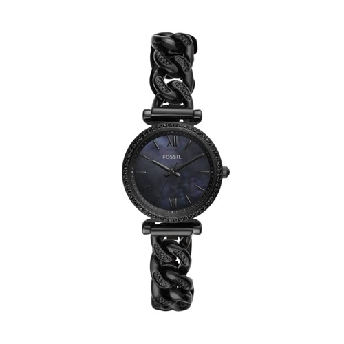 Carlie Mini Three-Hand Black Stainless Steel Watch ES4690