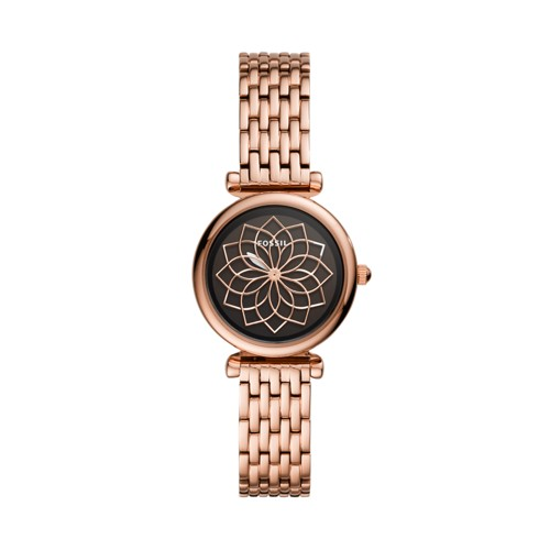 Carlie Mini Three-Hand Rose Gold-Tone Stainless Steel Watch ES4691