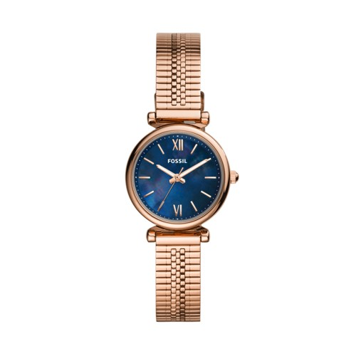 Carlie Mini Three-Hand Rose Gold-Tone Stainless Steel Watch ES4693