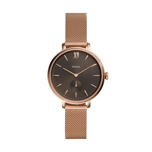 Kalya Three-Hand Rose Gold-Tone Stainless Steel Watch ES4704
