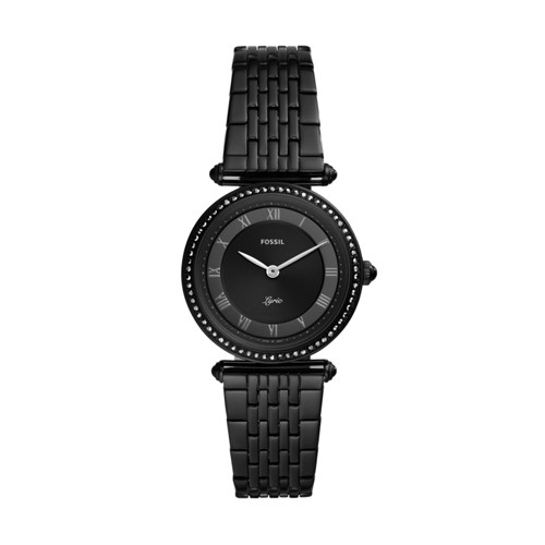 Lyric Three-Hand Black Stainless Steel Watch ES4713