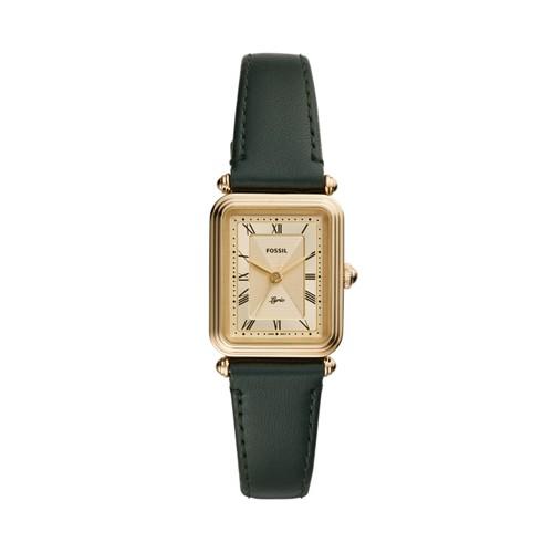 Lyric Three-Hand Dark Green Leather Watch ES4717
