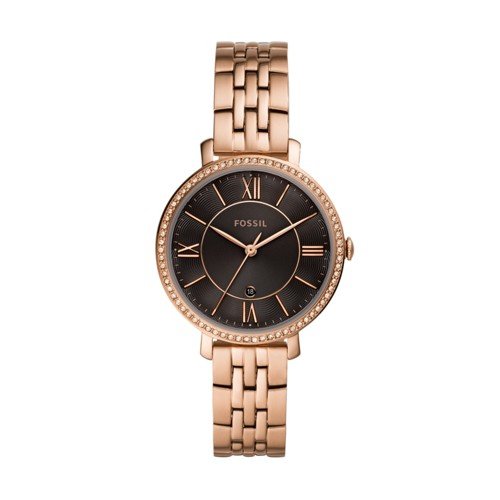 Jacqueline Three-Hand Rose Gold-Tone Stainless Steel Watch ES4723