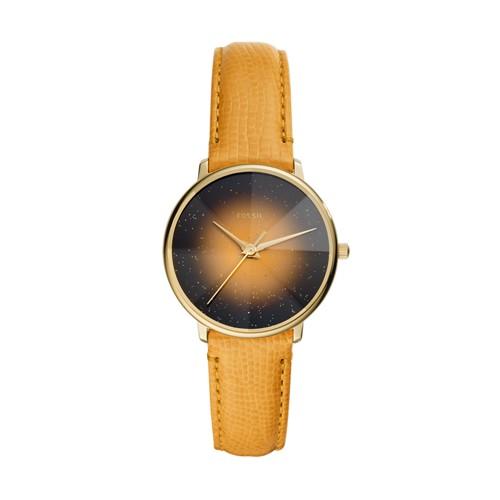 Prismatic Galaxy Three-Hand Yellow Leather Watch ES4728