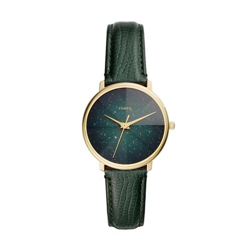 Prismatic Galaxy Three-Hand Green Leather Watch ES4730