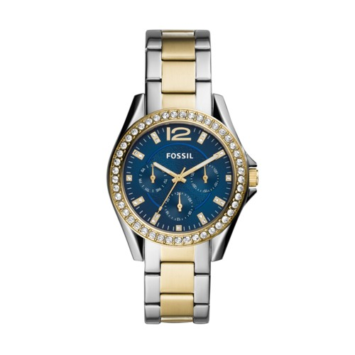 Riley Multifunction Two-Tone Stainless Steel Watch ES4734