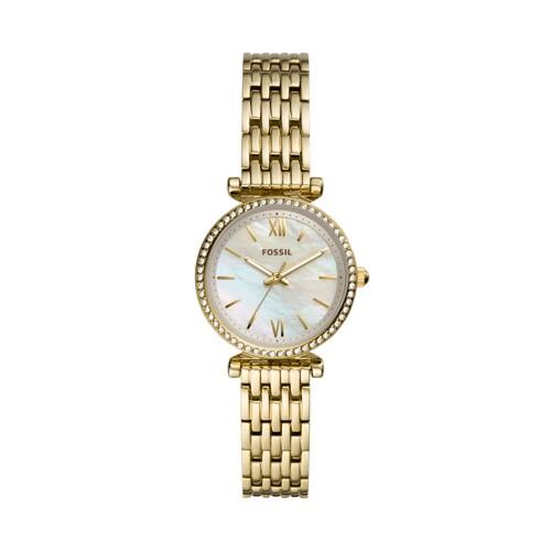 Carlie Mini Three-Hand Gold-Tone Stainless Steel Watch ES4735