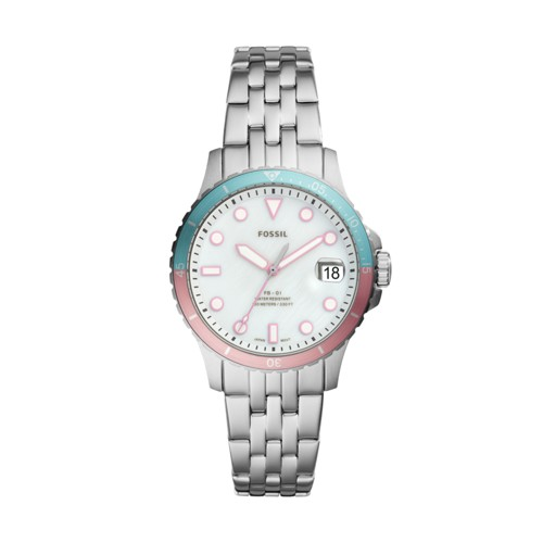 Fossil Fb-01 Three-Hand Date Stainless Steel Watch  jewelry