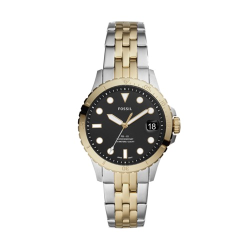 FB-01 Three-Hand Date Two-Tone Stainless Steel Watch ES4745