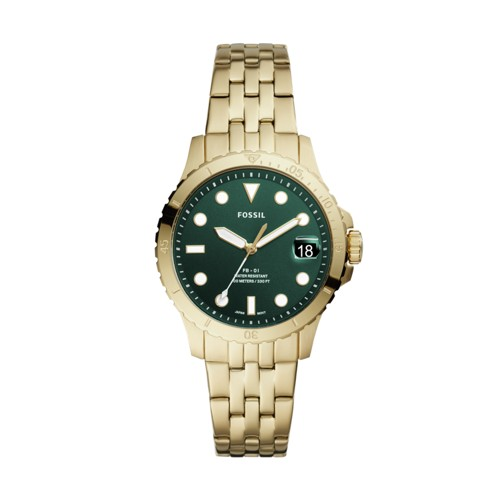 FB-01 Three-Hand Date Gold-Tone Stainless Steel Watch ES4746