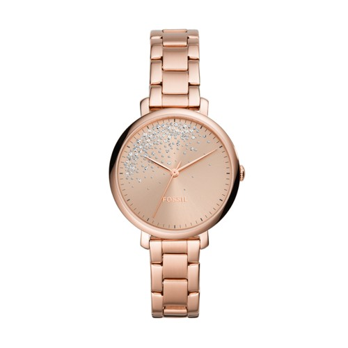 Jacqueline Three-Hand Rose Gold-Tone Stainless Steel Watch ES4775