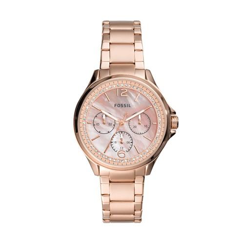 Sadie Multifunction Rose Gold-Tone Stainless Steel Watch ES4779