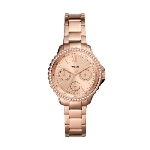 Izzy Multifunction Rose Gold-Tone Stainless Steel Watch ES4782