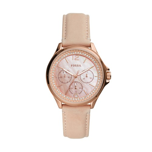 Fossil Sadie Multifunction Blush Leather Watch  jewelry
