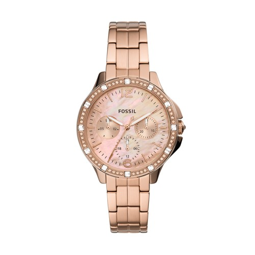 Finley Multifunction Rose Gold-Tone Stainless Steel Watch ES4787