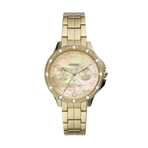 Finley Multifunction Gold-Tone Stainless Steel Watch ES4788