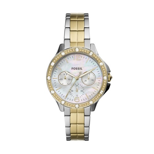 Finley Multifunction Two-Tone Stainless Steel Watch ES4789