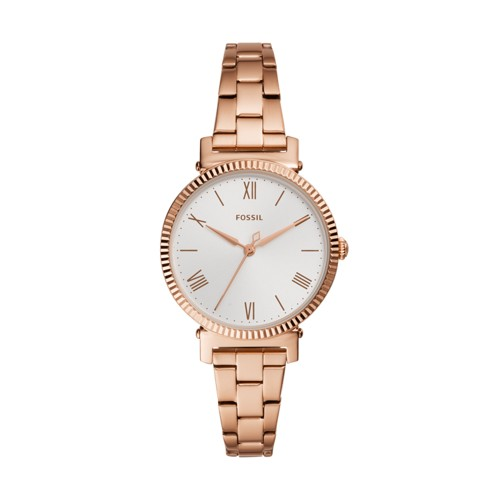 Daisy Three-Hand Rose Gold-Tone Stainless Steel Watch ES4791