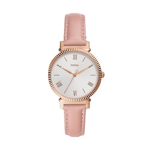 Fossil Daisy Three-Hand Blush Leather Watch  jewelry