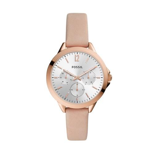 Alyssa Multifunction Blush Leather Watch ES4796