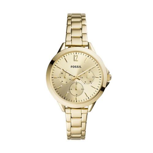 Alyssa Multifunction Gold-Tone Stainless Steel Watch ES4800