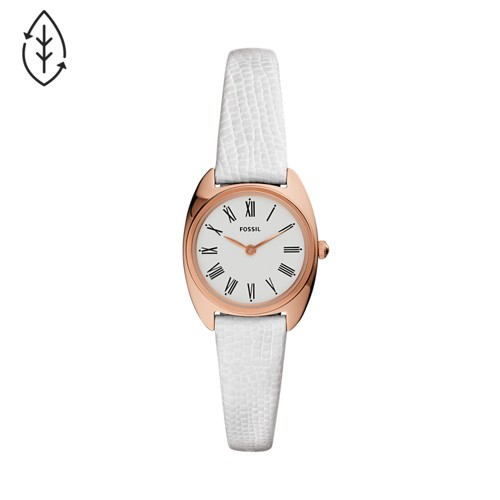 Fossil Jude Mini Two-Hand White Leather Watch  jewelry