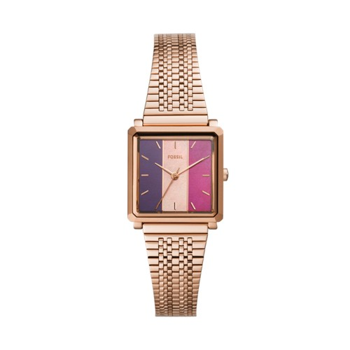 Julienne Three-Hand Rose Gold-Tone Stainless Steel Watch ES4809