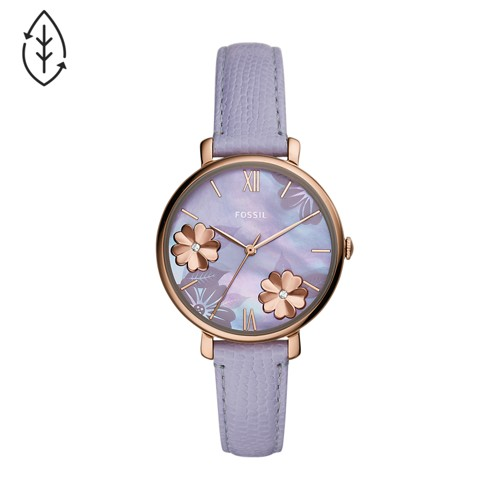 Fossil Jacqueline Three-Hand Lavender Leather Watch  jewelry