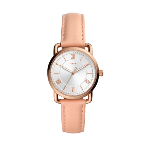Fossil Copeland Three-Hand Nude Leather Watch  jewelry