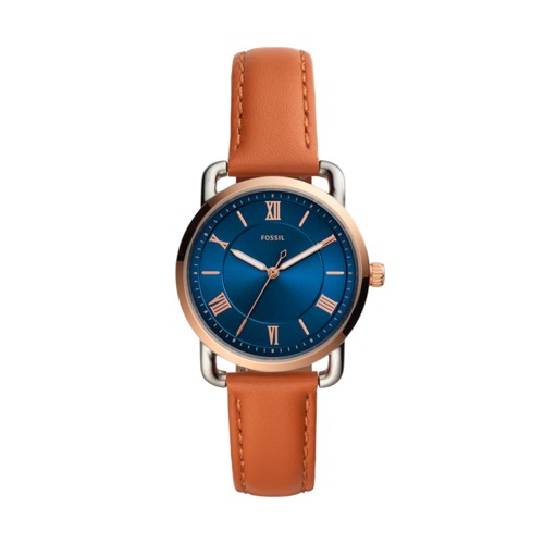 Fossil Copeland Three-Handtan Leather Watch  jewelry