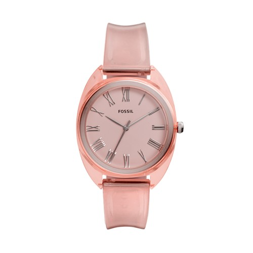 Jude Three-Hand Peach Silicone Watch ES4856