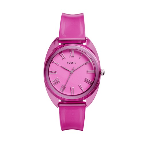 Jude Three-Hand Pink Silicone Watch ES4857
