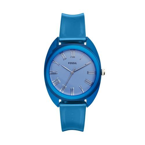 Jude Three-Hand Blue Silicone Watch ES4859