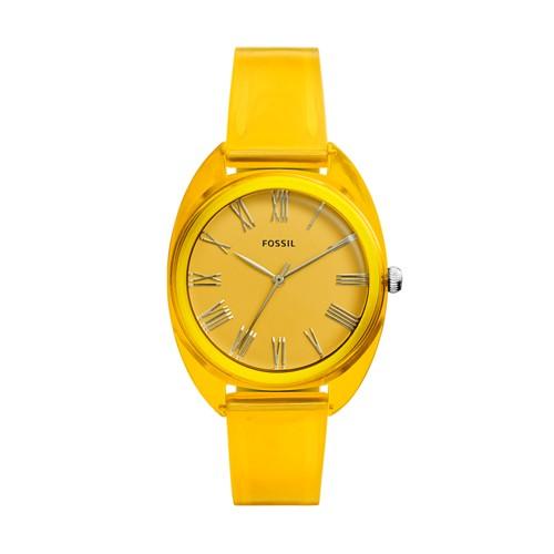Jude Three-Hand Yellow Silicone Watch ES4860
