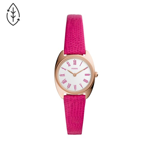 Fossil Jude Mini Two-Hand Fuchsia Leather Watch  jewelry
