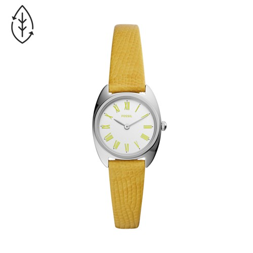 Fossil Jude Mini Two-Hand Lemon Leather Watch  jewelry