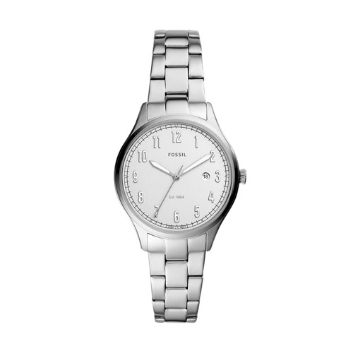 Lady Forrester Three-Hand Date Stainless Steel Watch ES4868